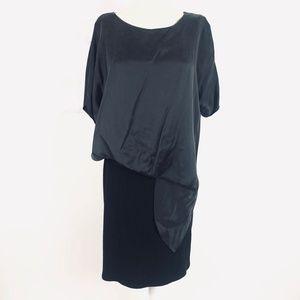 {Anthro} Amadi Sandy Tuck Dress Black Size Large